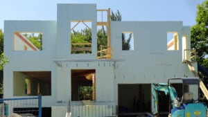 house being constructed with ICF