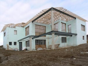 new house using icf