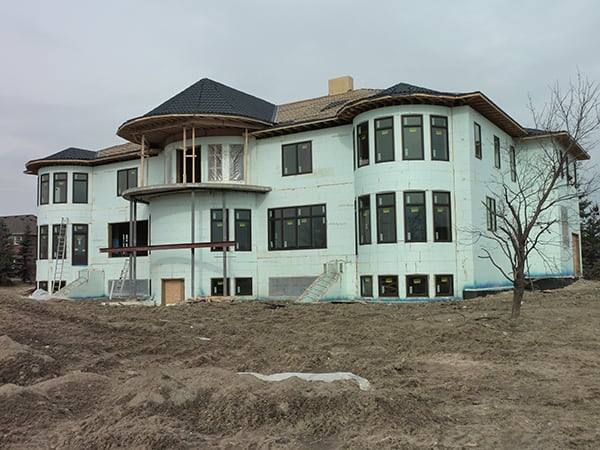 large home construction using ICF