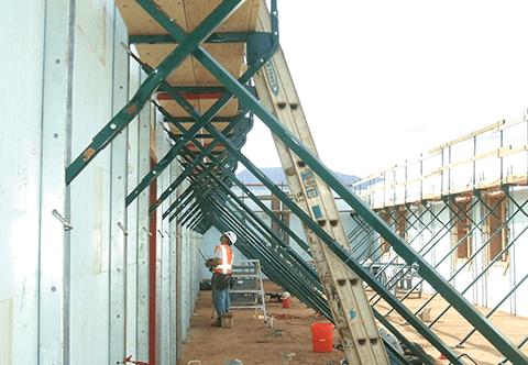 worker checking bracing