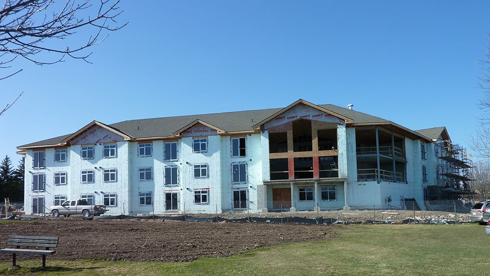 Multifamily construction using ICF