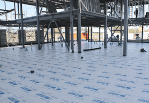 Thermofam insulation being used in construction
